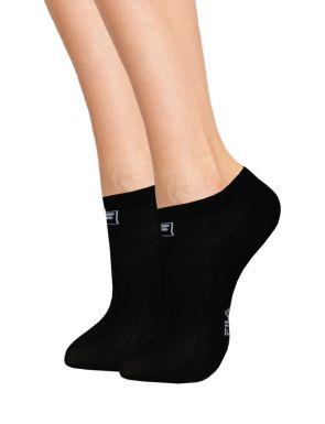 3 paires chaussettes Fila mi courtes en coton Femme