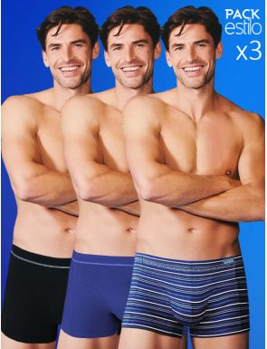 Pack style x3 boxers homme Abanderado