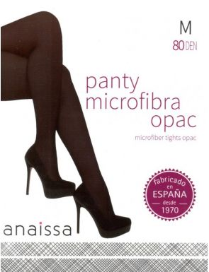 Panty microfibra opaco con rombo 80 den