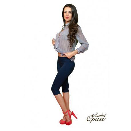 Pantalon leggings court coton effet push-up