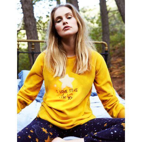 Pyjama femme Épais Velours Stars