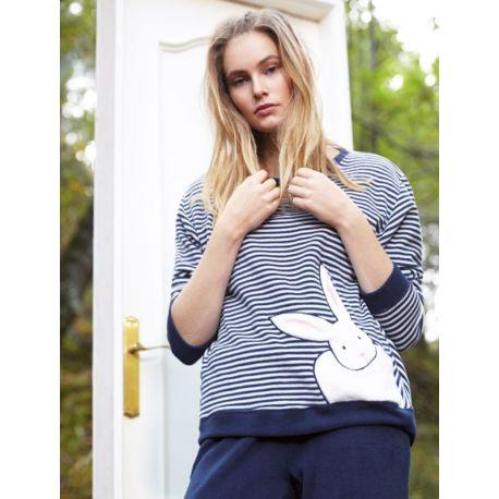 Pyjama femme Épais Velours Lapin