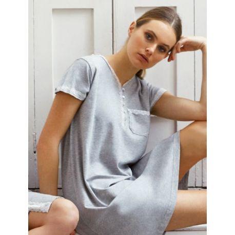 Chemise de nuit maternelle manches courtes