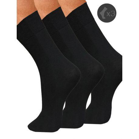 Lot de 3 chaussettes fil de coton homme