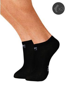 Lot 3 paires de socquettes invisibles Fila