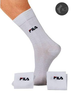 Chaussettes Fila mi-longues coton x3