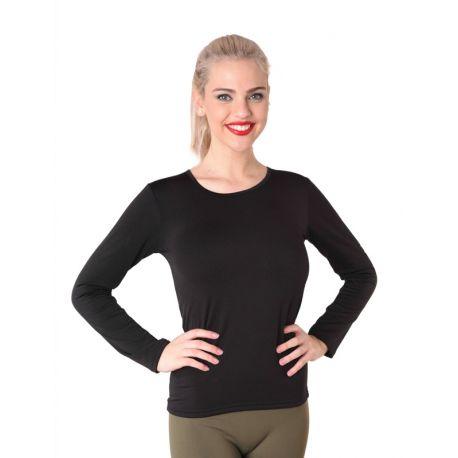 Chemise thermique intérieur pour femme à manches longues