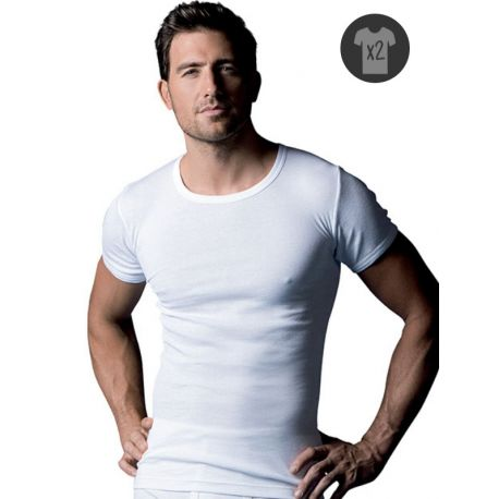 Lot de 2 T-shirts col rond en coton Abanderado