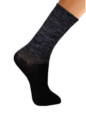 Chaussettes femme en coton purpurine