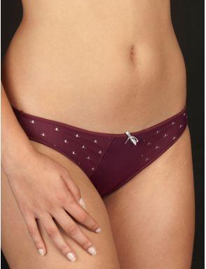 Slip bikini avec tulle et points Selene