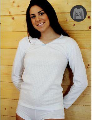 Lot x3 Tee-shirts Femme M/L Chauds