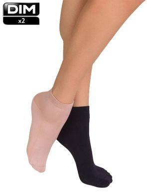 Socquettes courtes 2e peau Dim x2