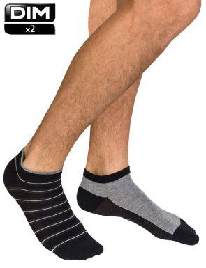 Socquettes courtes Homme coton DIM x2