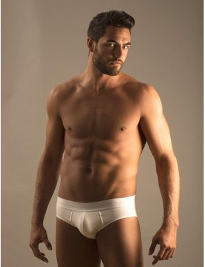 Slip homme coton gomme blanche Magnuseen