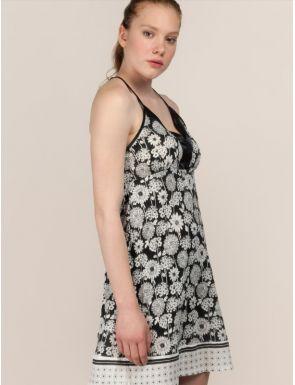 Chemise de nuit femme floral