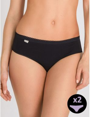 Slip femme mini cotton Playtex x2