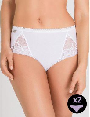 Slip femme midi cotton Playtex x2
