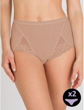 Slip femme maxi cotton Playtex x2