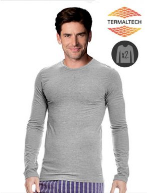 Lot x2 T-Shirts gris termique Abanderado