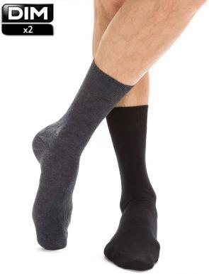 Chaussettes de maille en coton Dim x2