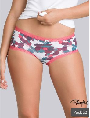 Shorties pour femme Coton Fancy x2