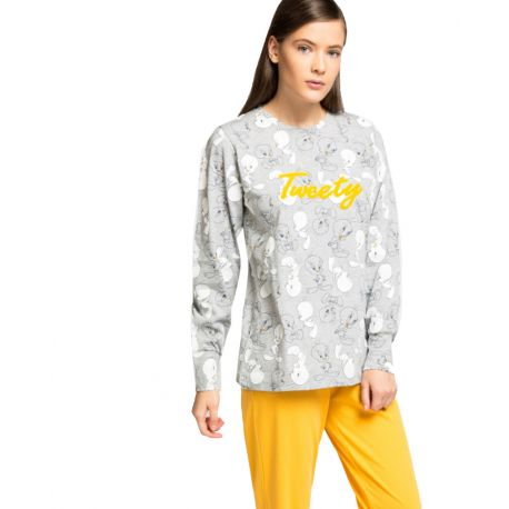 Pyjama long en coton pour femme Tweety