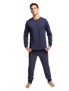 Pyjama homme hiver bleu marine