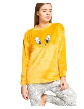 Pyjama long en peluche Tweety Gisela