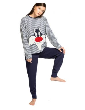 Pyjama long à rayures Sylvester Gisela