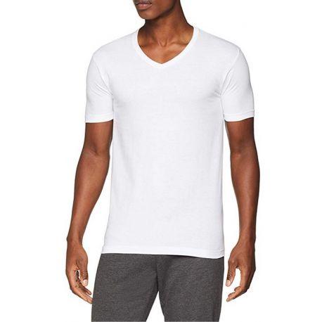 T-shirt en coton Manche courte Pico Cou Homme