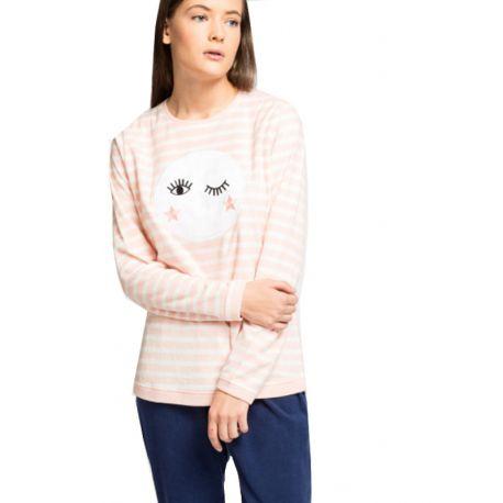 Pyjama long micropolaire lune