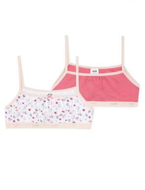 Soutien-gorge en coton pour filles Pack x2