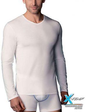 T-shirt homme X-Temp M/L col V Abanderado
