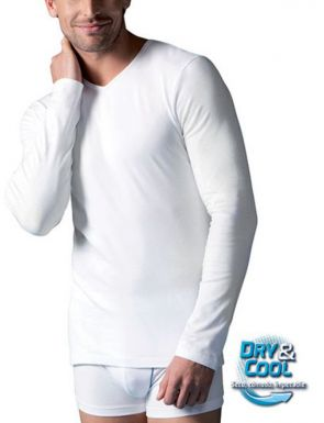 T-Shirt manches longues Abanderado col V  Dry & Cool