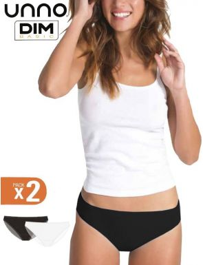 Slips femme coton élastique Unno Dim x2