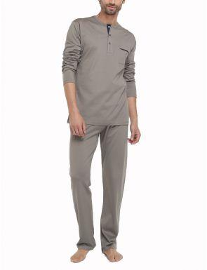Pyjama Hilo d'Ecosse taupe