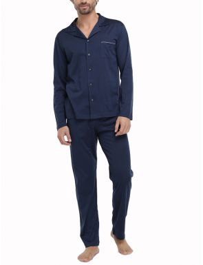 Pyjamas Fil d'Écosse Bleu marine