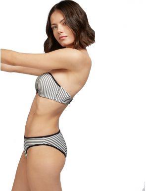 Haut de bikini bandeau à rayures Gisela