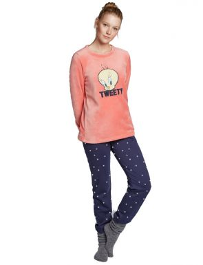 Pyjama long tweety et pois