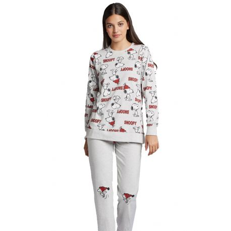 Pyjama tricot gris Snoopy