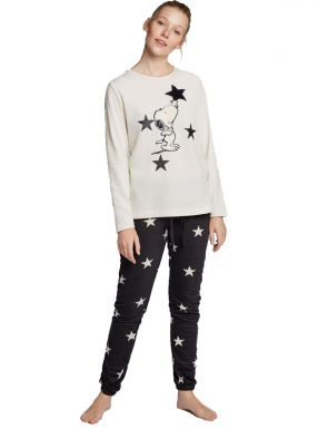 Pyjama long Snoopy pour femme