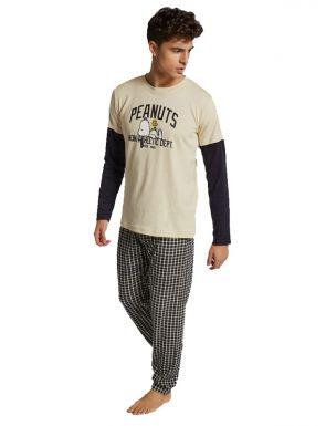 Pyjama en tricot Snoopy pour homme