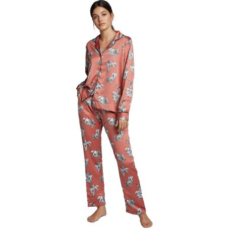 Pyjama chemise imprimé Gisela