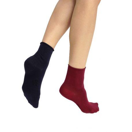 Lot de 2 paires de chaussettes basses Dim Modal