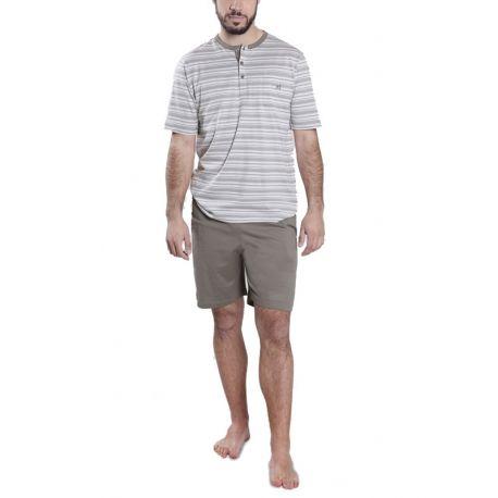 Pyjama court à rayures