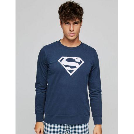 Pyjama à carreaux Superman