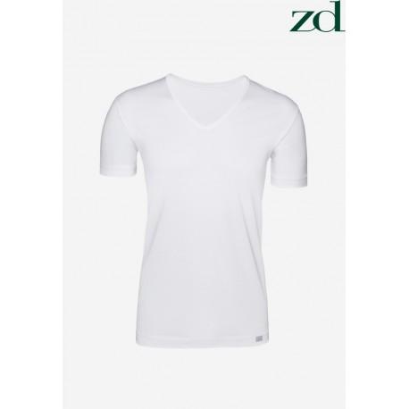 "Tee-shirt M/C en Coton égyptien ZD ""V"""